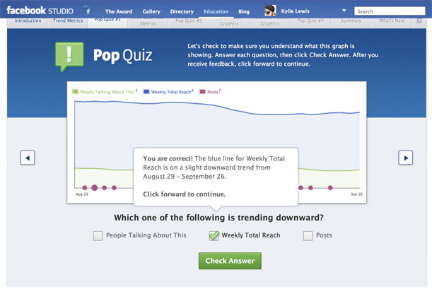 Facebook Studio Education Pop Quiz