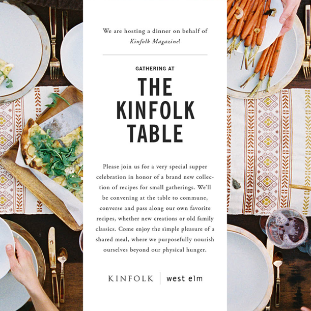 The Kinfolk Table Dinner Melbourne 26 October 2013