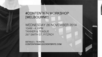content kin melbourne workshop 26 november 2014