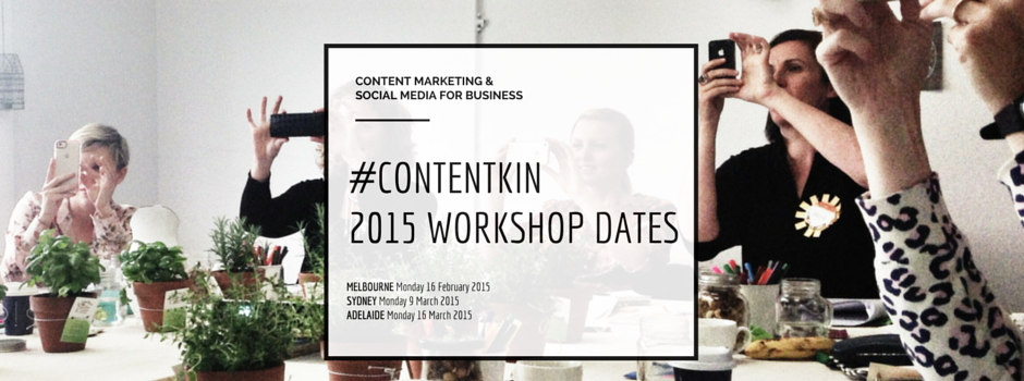 Content marketing and social media workshops Melbourne Sydney Adelaide