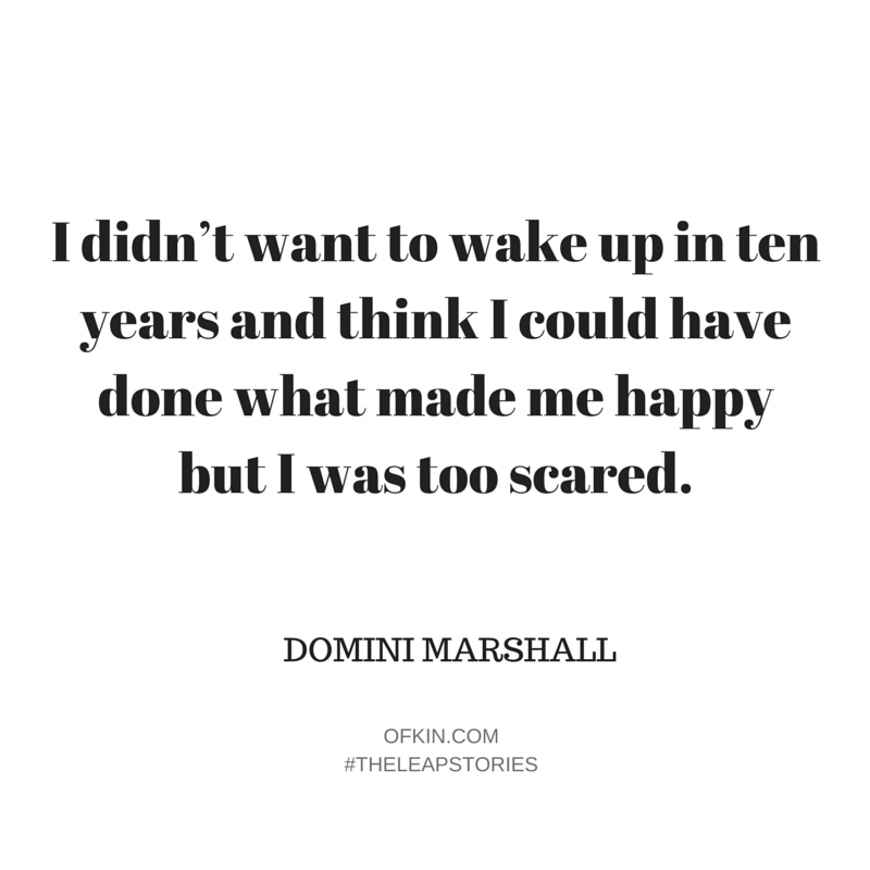 Domini Marshall not scared