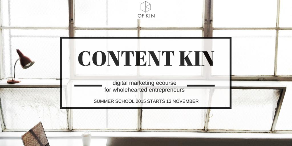 ContentKin eCourse Summer School 2015 - Homepage banner