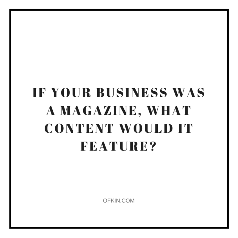 Business to Magazine Content