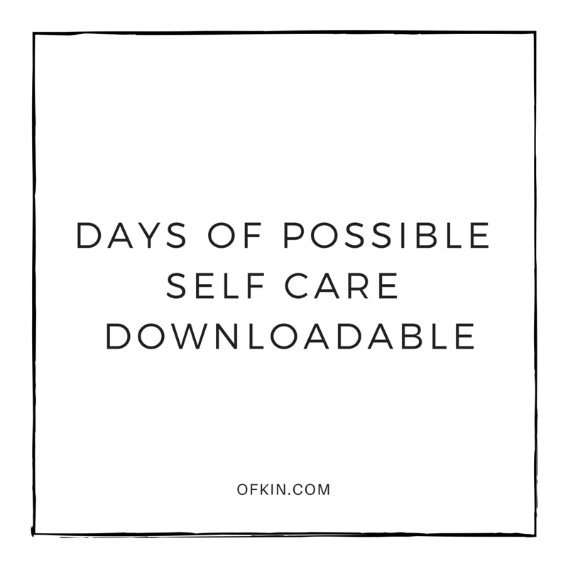 Self Care Downloadable Tile