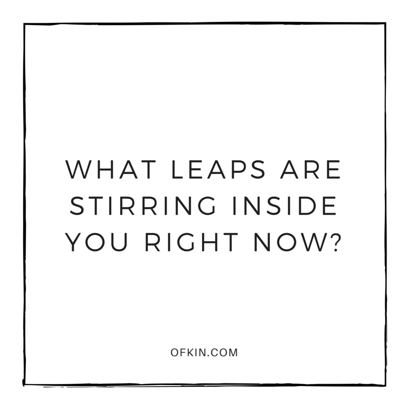 What leaps are stirring