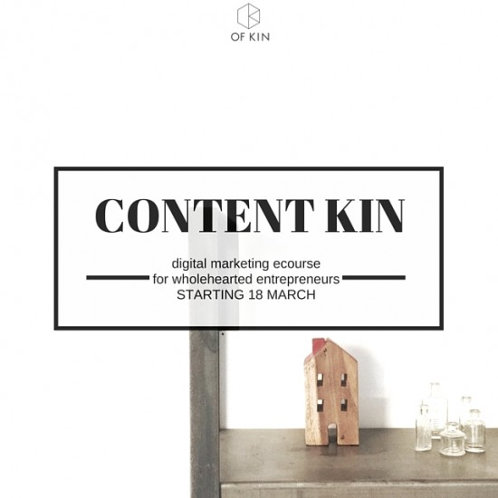 #contentkin ecourse content marketing and social media for business starting 18 march 2016