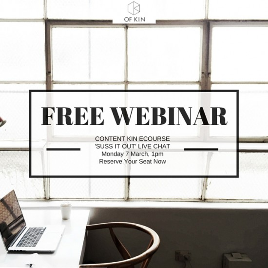 #contentkin suss it out webinar content marketing social media for business free webinar