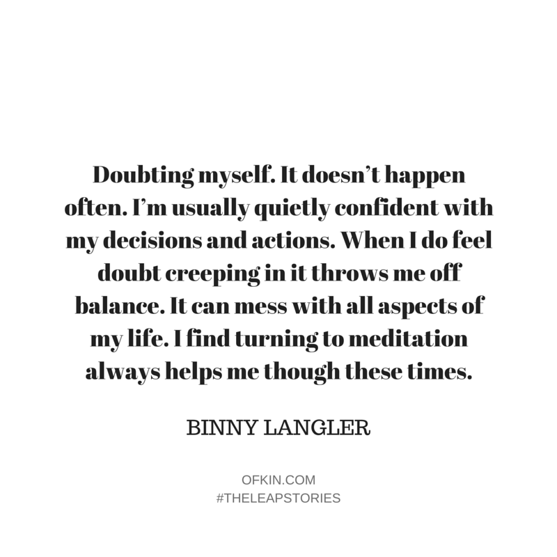 Binny Langler Quote 11