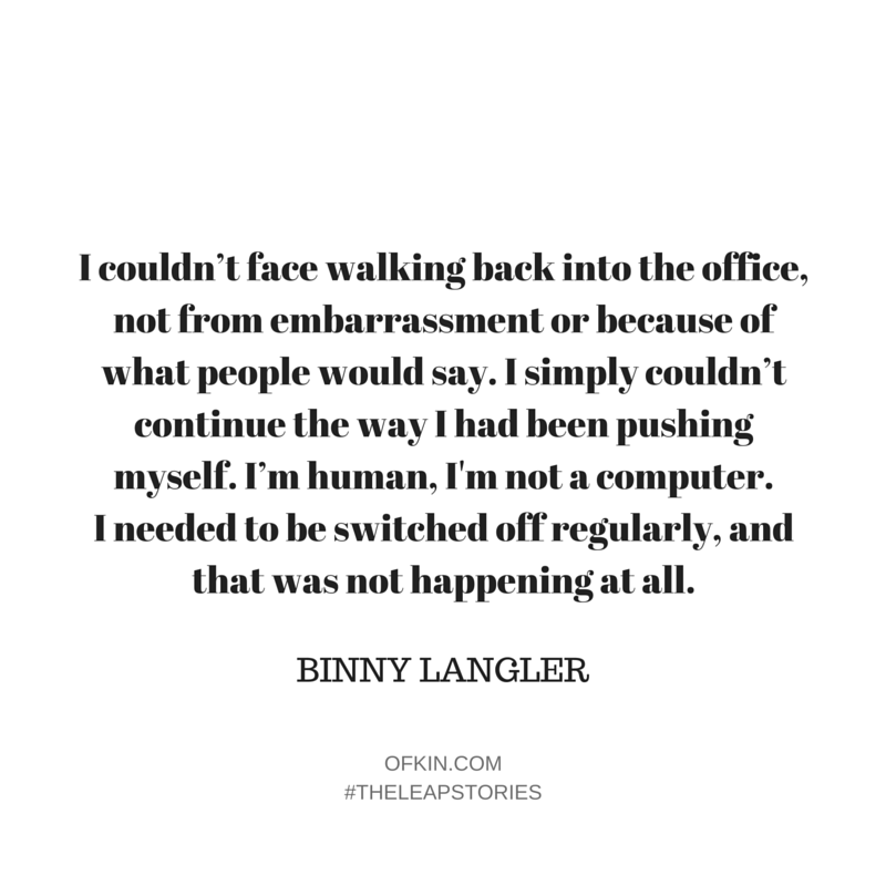 Binny Langler Quote 4