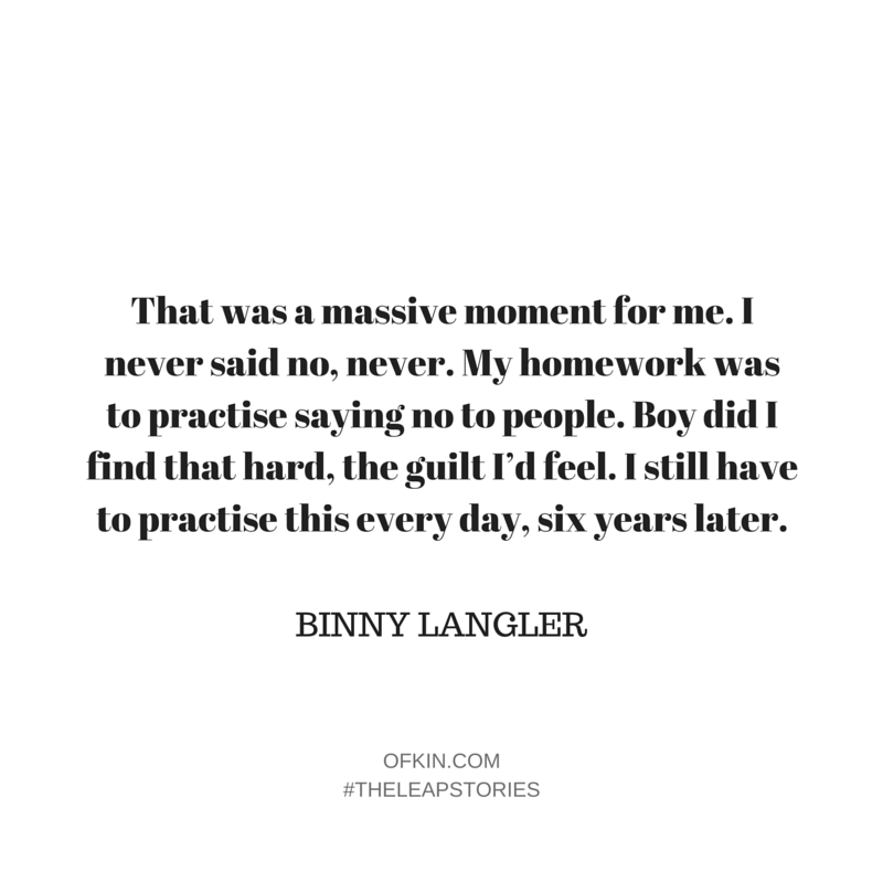 Binny Langler Quote 5