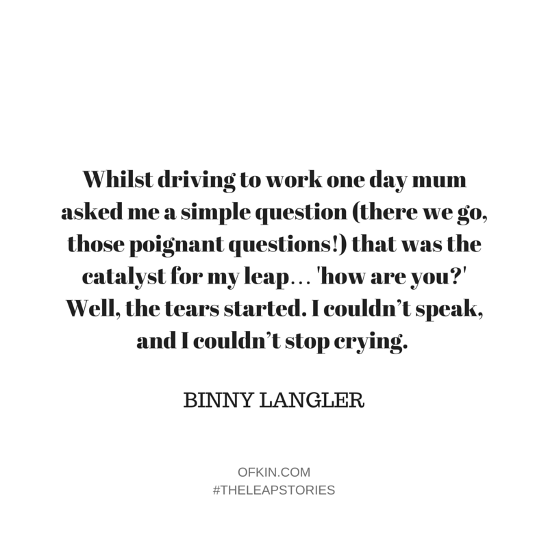 Binny Langler Quote 8