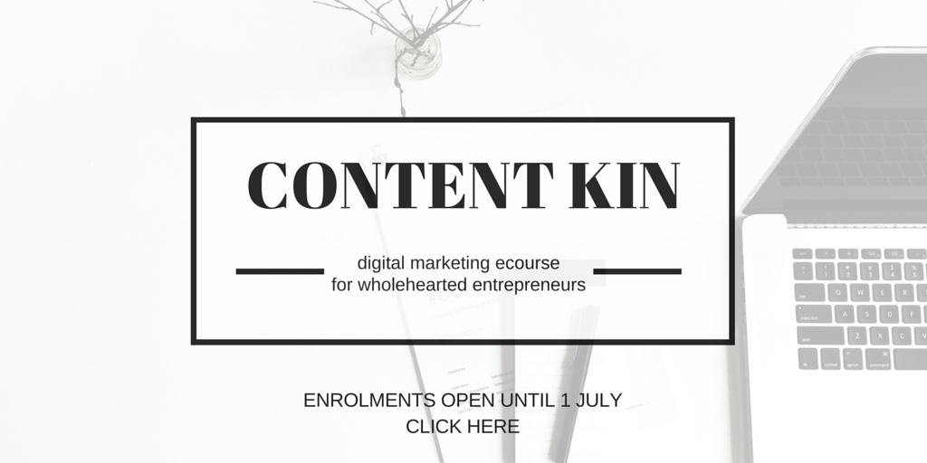 #contentkin ecourse content marketing social media