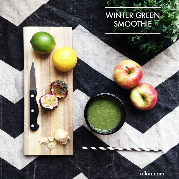 Winter green smoothie recipe