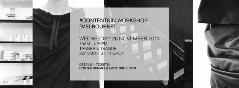 content kin melbourne workshop 26 november 2014