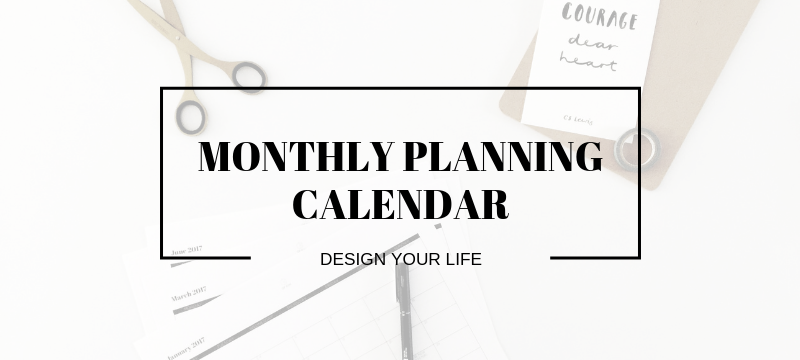 2019 Free Monthly Planner Download